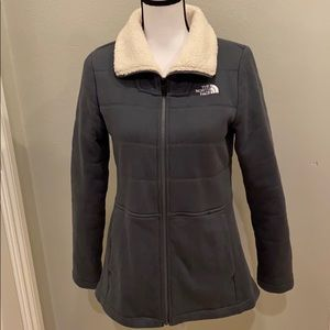 The North Face Charcoal Fleece Full Zip Jacket